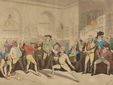 THOMAS ROWLANDSON MR ANGELO FENCING ACADEMY OLD ART PAINTING POSTER BB4982A
