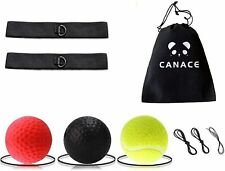 Boxing Reflex Ball Train At Home Equipment Gym Exercise Fight Bundle New