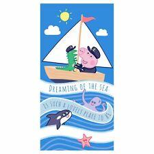 Peppa Pig Coton Serviette Enfants Bain Plage Piscine George & Mr Dinosaur
