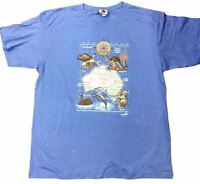 Adult Mens Australia Day Souvenir Australian T Shirt Blue Aussie Tee Top Animals