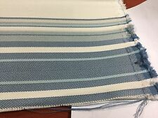 Scalamandre 27063-003 Endless Summer Stripe/Sky Outdoor Uph. Fabric 4 2/8 yds.