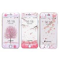 Pink Sakura Cherry Bolssom Tempered Glass Screen Protector For iPhone 7/6s Plus