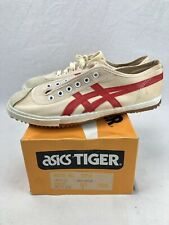 Vintage Asics Tiger Carribean Shoes Size 7 White Red Nos Volleyball Bm-8112