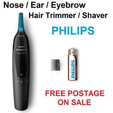 Philips Mens Ear Nose Eyebrow Hair Shaver Cordless Grooming Battery Portable