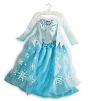 Authentic NWT DISNEY PARKS Frozen Queen Princess ELSA Dress COSTUME SZ 11/12