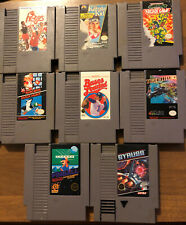 Nintendo Entertainment System NES 8 Lot Game Bundle Mario Turtles Gyrus Games