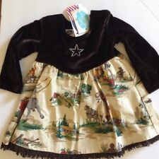 Baby Baubles Girls Western Cowboy Rodeo Horse Cowgirl  Dress New with Tags