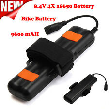 8.4V Rechargeable 9600mAh 4X18650 Battery Pack For Bicycle Bike Light Headlamp
