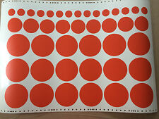 42 POLKA DOTS SHAPES REMOVABLE WALL VINYL DECAL STICKER ART ORACAL 2188