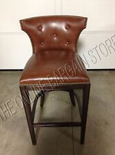 """Frontgate Marseille BAR HEIGHT Barstool Counter Stool Chair Cognac Leather 30"""""""