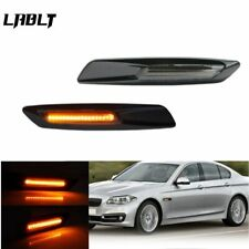 F10 Style Smoked Front Side Fender Amber LED Marker Lights For BMW 1 3 5 Series
