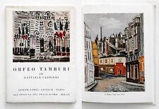 Orfeo Tamburi Villes di R. Carrieri Foret Paris/Scheiwiller Milano 1955 Numerato