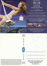 CELINE DION PERFUME UNUSED ADVERTISING COLOUR  POSTCARD