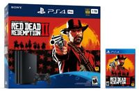 PS4 Pro 1TB Console Red Dead Redemption 2  Bundle Brand New Sealed In Stock Now!
