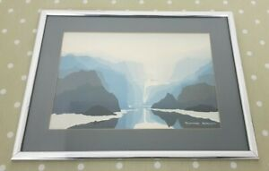 Framed Richard Akerman Mountain Lake Print