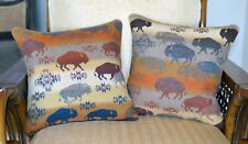 Prairie Rush Hour - Land of the Buffalo Pillow Covers handmade of Pendleton Wool