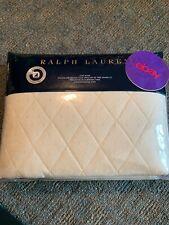 New! Ralph Lauren Bedford Quilted King Pillow Sham Essex Cream Msrp $215 Nip