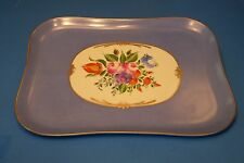 TRAY RECT. BLUE,FLORAL, authentic FRENCH LIMOGES BOX ( NEW )