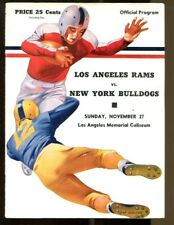 1949 Los Angeles Rams v New York Bulldogs Program 11/27 LA Coliseum Ex 43537