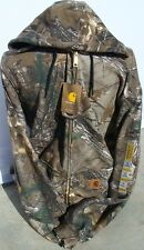 Carhartt K289 Midweight Camo Hooded Zip-Front Sweatshirt - Realtree Xtra -