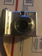 Canon PowerShot A560 7.1MP Digital Camera - Silver Tested Good Conditoin