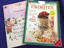 """2 PLAID TOLE PAINTING WORK BOOKS""""BRUSH LETTERING""""&FAVORITES"""" CALLIGARAPHY&MORE"""