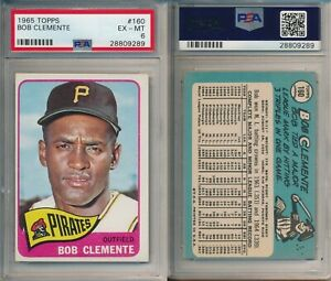 Roberto Clemente PIRATES HOF 1965 Topps Baseball Card #160 PSA 6 (EX-MT) x289