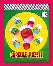 Old Capsule Dexterity Puzzle Toy Vending Machine Sign