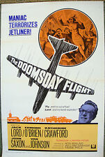 "US 1 sht 27""x41"" One Original Movie Poster DOOMSDAY FLGHT Jack Lord Film 1968 VF"