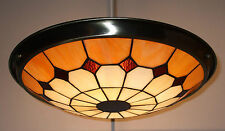 TIFFANY - STYLE BISTRO  UPLIGHTER LARGE-SHADE Beige/Amber RM14 UPL28