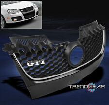 2006-2009 VW GTI GLI JETTA MK5 MAIN HEX MESH BUMPER GRILLE INSERT W/CHROME TRIM