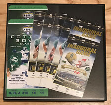 BAYLOR BEARS FOOTBALL FRAMED 12 TICKET 2014 79th COTTON BOWL/Inaugural McLANE