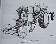 IH International Harvester 260 3pt 2pt 2 Row Corn Bean Planter Manual Farmall