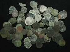 FRANCE. Lot of 100 assorted Medieval-1600's bronze and billon coins
