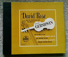 """David Rose and His Orchestra Play the Music of George Gershwin 4 10"""" set MGM 85"""