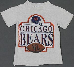 Vintage 1992 Chicago Bears NFL Football Single Stitch Shirt Youth Small Rock U