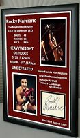 "Rocky Marciano Signed  Framed Canvas Print   ""Great Gift"""