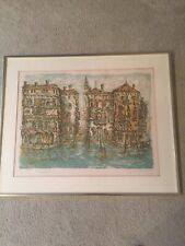 "Daniel  Louradour Signed & Numbered Ltd. Ed Framed Print ""Grand Canal"" 205/260"