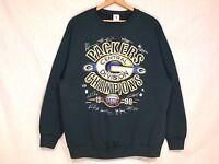 Green Bay Packers division champs 1996 VTG sweatshirt / XL-XXL / norm use / b15