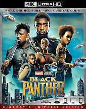 Black Panther (4K UHD + Blu Ray + Digital) 2018 w/SLIP COVER **SEALED**