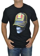Men's Dsquared2 T Shirt Black Short Sleeve Relief Scull Print