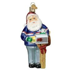 Old World Christmas POSTMAN SANTA (40308)X Glass Ornament w/OWC Box