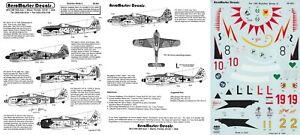 AEROMASTER DECALS 1/48 Focke-Wulf Fw 190A/F JGr Ost JG 2 54 300 SG 4 (Luftwaffe)