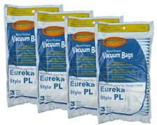 12 Eureka Electrolux Style PL Upright Vacuum Bags, Bagged Uprights, Maxima Vacuu