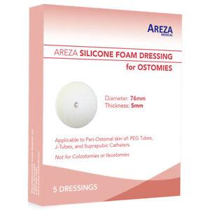 Ostomy Dressing: Round Silicone Foam 5 per box