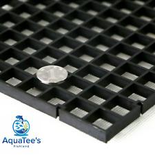 Grid Divider Tray Egg Crate Aquarium Fish Tank Filter Bottom Isolate BLACK X 2
