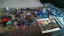 halo mega bloks huge lot loose but complete with directions rockethog tons
