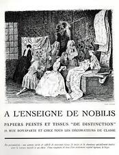 ▬► PUBLICITE ADVERTISING AD Papiers peints tissus à l'enseigne de Nobilis