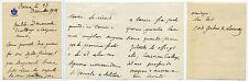 1068 LETTERA 1908 AUTOGRAFO SENATORE CARLO ALBERTO GERBAIX DE SONNAZ AUGURI