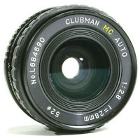 Clubman MC 28mm f2.8 Wide Angle Prime Lens Pentax M42 Mount UK Fast Post